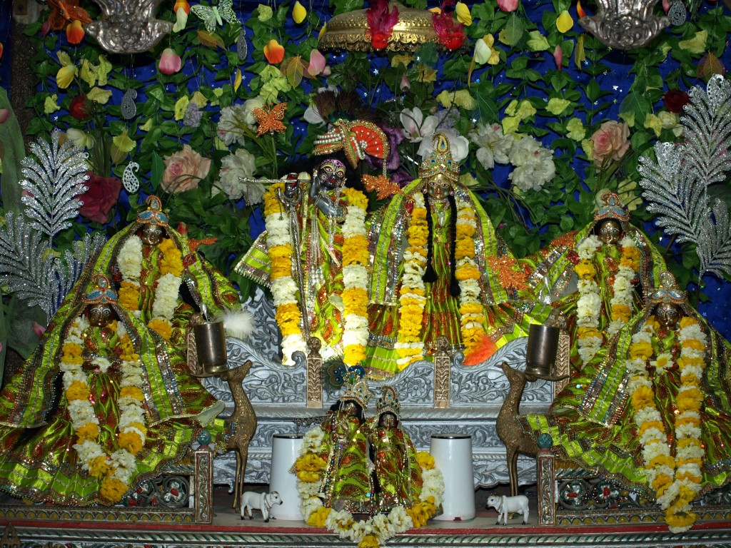 Shri Shri Radha Mohan Ji and Sakhis