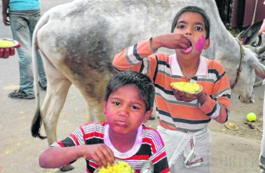 Kinder in Vrindavan