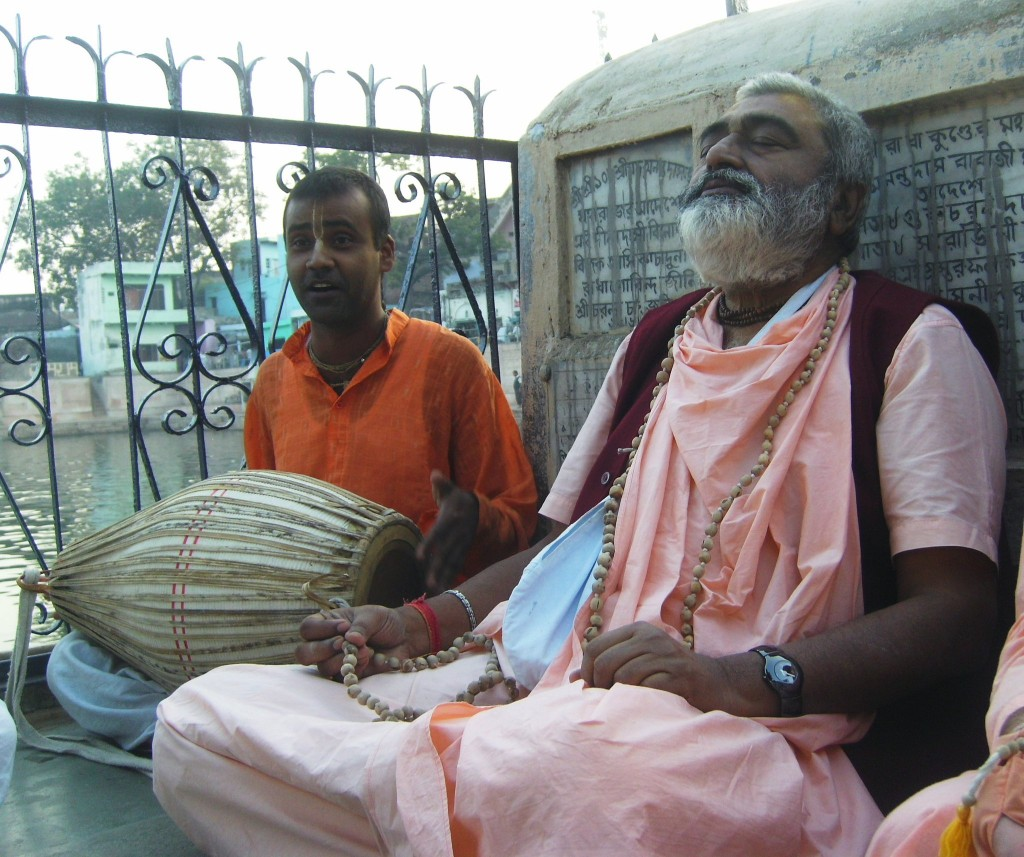 Sadhu Maharaja at Radhakunda, December 2010
