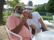 Tarun Govinda with Sadhu Maharaja at Lake George